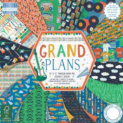 12x12'' Paper Pad Grand Plans