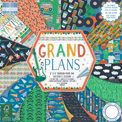 8x8'' Paper Pad Grand Plans