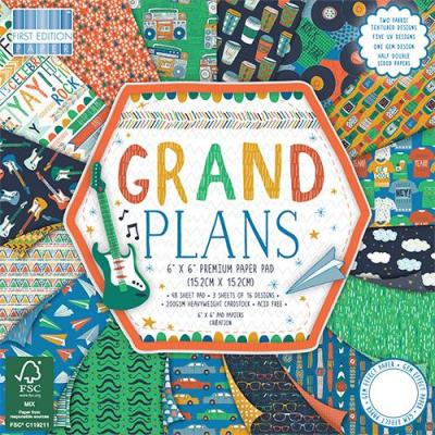 6x6'' Paper Pad Grand Plans
