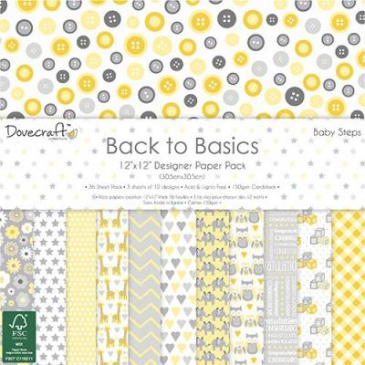 Back to Basics - Baby Steps - 12x12'' Papierblock, 36 Blatt