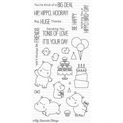 My Favorite Things Clear Stamp Happy Hippos