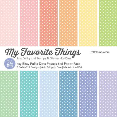 Itsy Bitsy Polka Dots Pastels 6x6'' Paper Pack