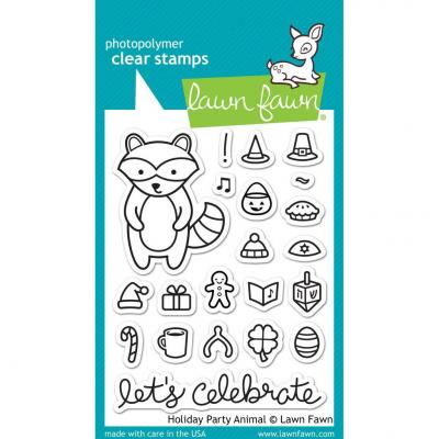 Lawn Fawn Clear Stamps Holiday Party Animal
