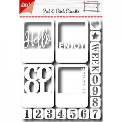 Peel & Stick Stencils Hello & Numbers