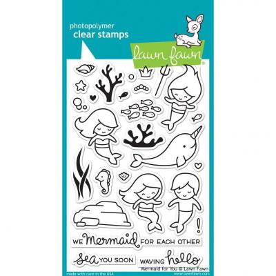 Lawn Fawn Clear Stamps Mermaid For You