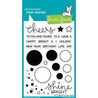 Lawn Fawn Clear Stamps Let's Bokeh