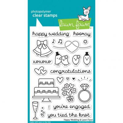 Lawn Fawn Clear Stamps Happy Wedding