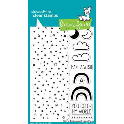 Lawn Fawn Clear Stamps Starry Backdrops