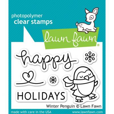 Lawn Fawn Clear Stamps Winter Penguin