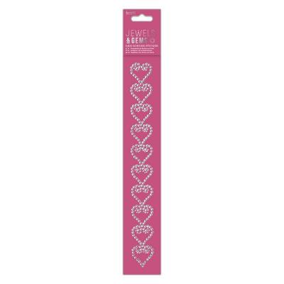 Gem Border Sticker Hearts
