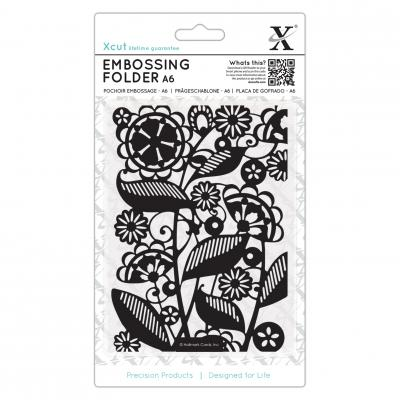 Embossing Folder Folk Florals