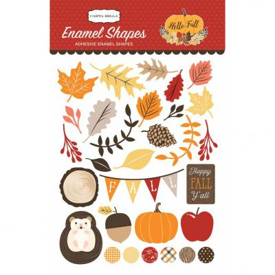Hello Fall - Enamel Shapes
