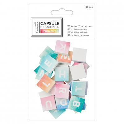 Capsule Collection - Elements Pigment Buchstaben auf Holz