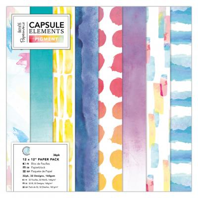 Capsule Collection - Elements Pigment 12x12'' Papierblock