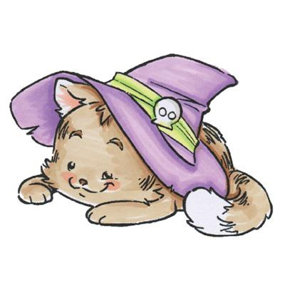 Rustic Sugar Stempel Witch Kitty
