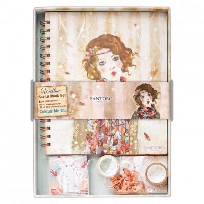 Santoro's Willow Scrapbook Set zum Ausmalen