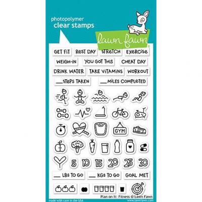 Lawn Fawn Clear Stamps - Plan On It: Fitness