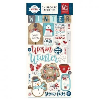 A Perfect Winter - Chipboard Embellishments