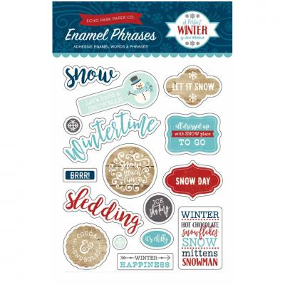 A Perfect Winter - Enamel Words & Phrases