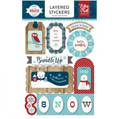 A Perfect Winter - Layered Stickers
