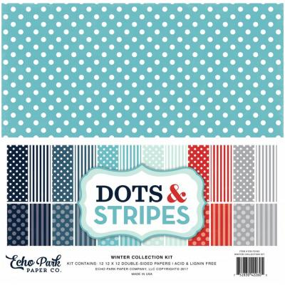 Echo Park Winter Dots & Stripes 12 x 12