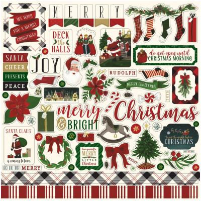 Twas The Night Before Christmas Vol.2 Stickerbogen 12 x 12 Inch