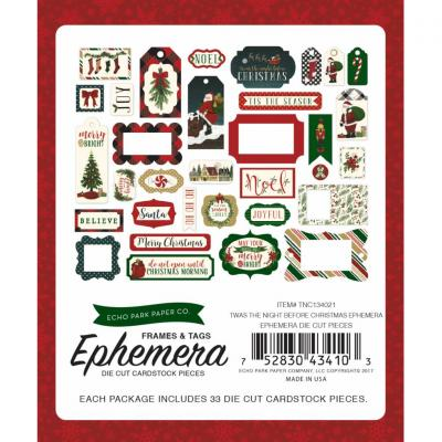 Twas The Night Before Christmas Frames & Tags Die Cuts Ephemera Pack