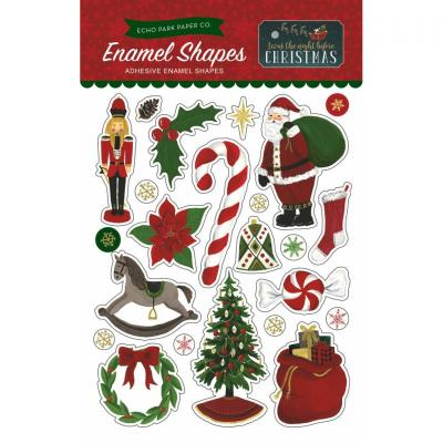 Twas The Night Before Christmas Enamel Shapes Embellishment