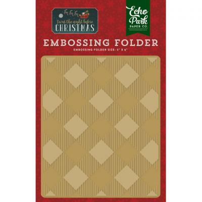 Twas The Night Before Christmas Buffalo Plaid Embossing Folder