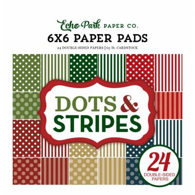 Echo Park Christmas Dots & Stripes 6 x 6