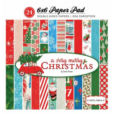 Carta Bella A Very Merry Christmas 6x6 Inch Paper Pad