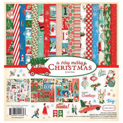Carta Bella A Very Merry Christmas 12x12 Inch Collection Kit