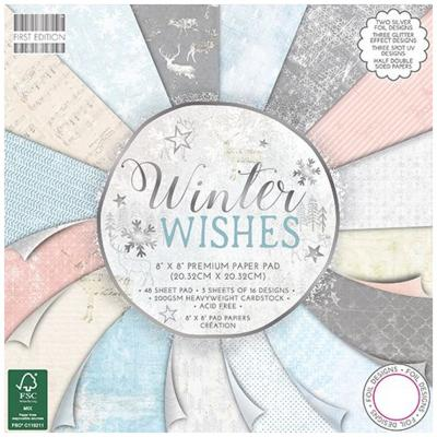 First Edition Winter Wishes 8x8 Inch Paper Pad, 48 Blatt, 200gsm
