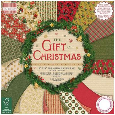 First Edition The Gift of Christmas 8x8 Inch Paper Pad, 48 Blatt, 200gsm