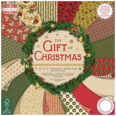 First Edition The Gift of Christmas 12x12 Inch Paper Pad,48 Blatt, 200gsm