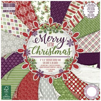 First Edition Merry Little Christmas 8x8 Inch Paper Pad, 48 Blatt, 200gsm