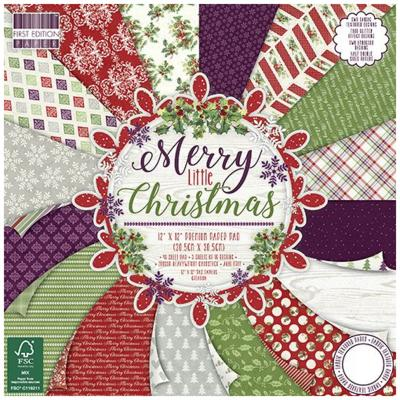 First Edition Merry Little Christmas 12x12 Inch Paper Pad, 48 Blatt, 200gsm