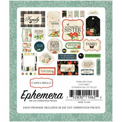 Carta Bella Our Family Ephemera Pack Die-cut