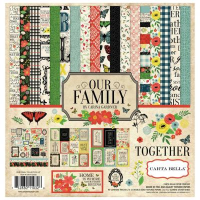 Carta Bella Our Family 12x12 Inch Collection Kit