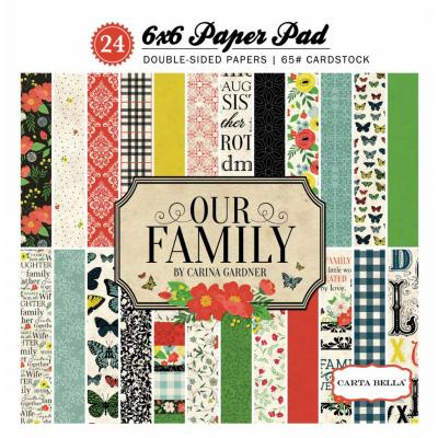 Carta Bella Our Family 6x6 Inch Paper Pad