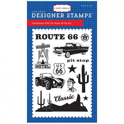 Carta Bella Cartopia - Route 66 Stamp Set