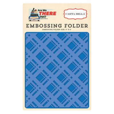 Carta Bella Embossing Folder Bold Plaid
