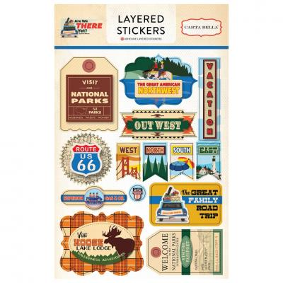 Carta Bella Are We There Yet? Layered Stickers Embellishments