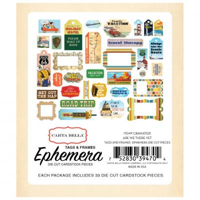 Carta Bella Are We There Yet? Ephemera Die-Cuts Frames & Tags