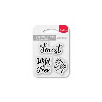 ScrapBerry's Set Of Clear Stamps - Forest