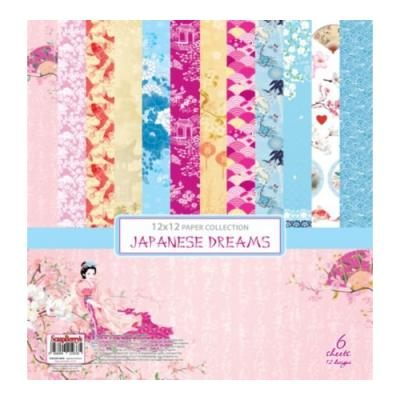 ScrapBerry's Paper Collection Set 12x12 Inch Japanese Dreams (6 sheets,12 designs)