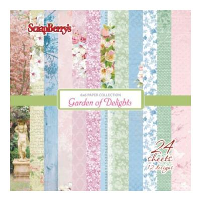 ScrapBerry's Paper Collection Set 6x6 Inch Garden of Delights (24 sheets,12 designs)