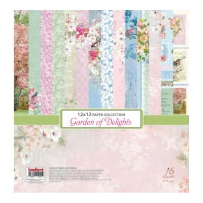 ScrapBerry's Paper Collection Set 12x12 Inch Garden of Delights (16 sheets,14 designs)