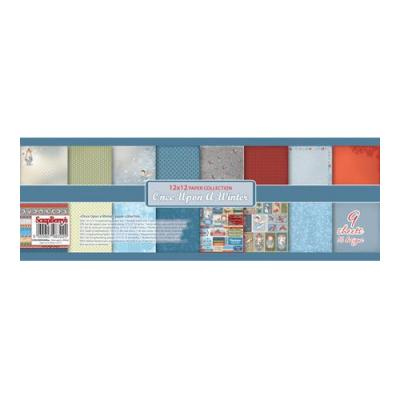 ScrapBerry's Paper Collection Set 12x12 Inch Once Upon A Winter (9 sheets,16 designs)