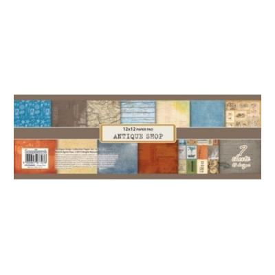 ScrapBerry's Paper Collection Set 12x12 Inch Antique Shop (7 sheets,13 designs)